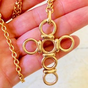 Perfect Gift ! Rose Gold Color Cross necklace